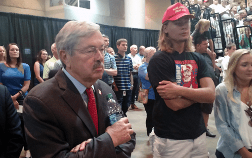 """Related article: Branstad on Trump Backers' """"Lock Her Up!"""" Chant: If Not Clinton, She'd Be in Prison"""