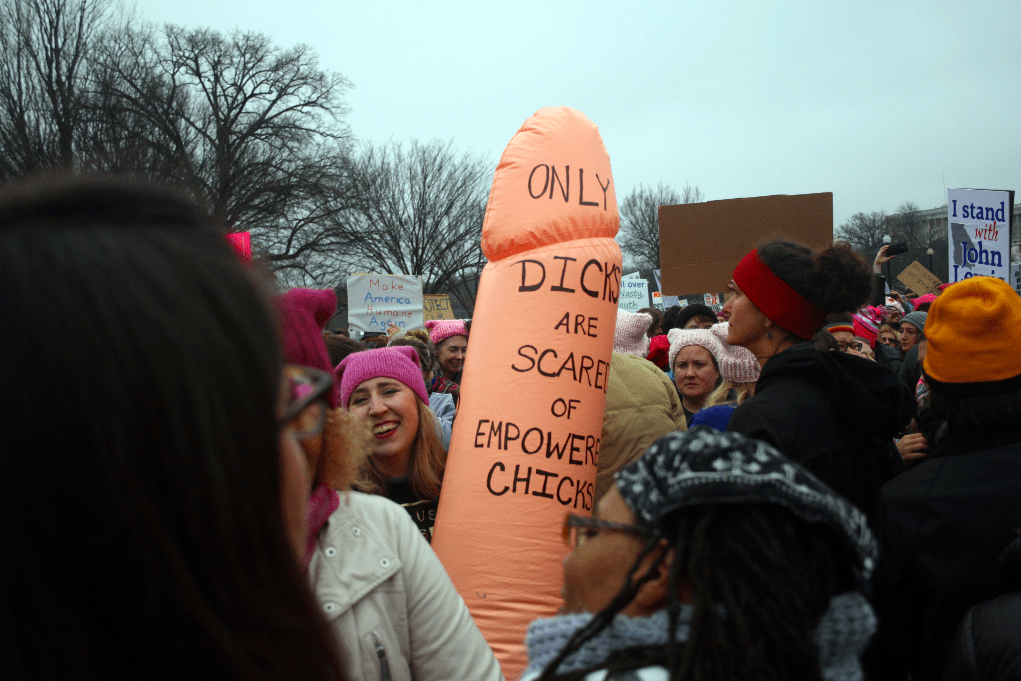 Only dicks are scared of empowered chicks at the Women's March. Photo: Gavin Aronsen/Iowa Informer