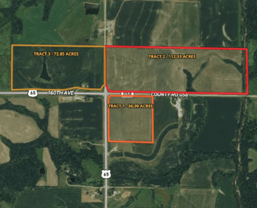 Warren County Auction 221 Acres will be Offered in 3 Tracts