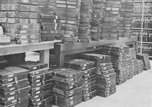 Original stacks of talking books