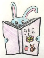 Bunny with a book