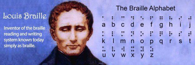Picture of Louis Braille and the Braille Alphabet