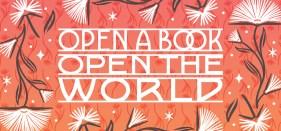 Open a book, open the world logo