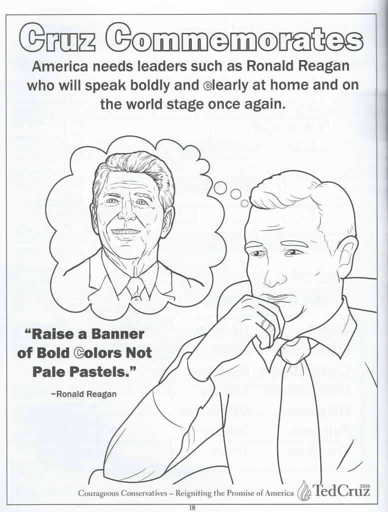 We Review Ted Cruz's Ridiculous Children's Coloring Book
