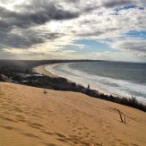 Atop a giant sand dune