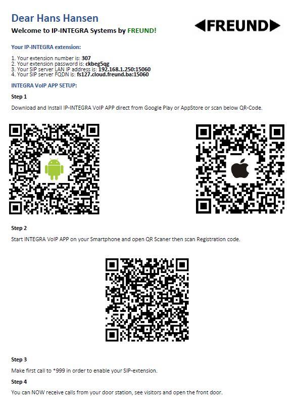 Integra VOiP App