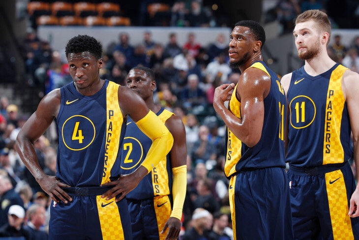The indiana pacers put depth in chart also ipacers rh