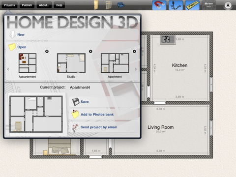 Home Design 3DiPad App Finders