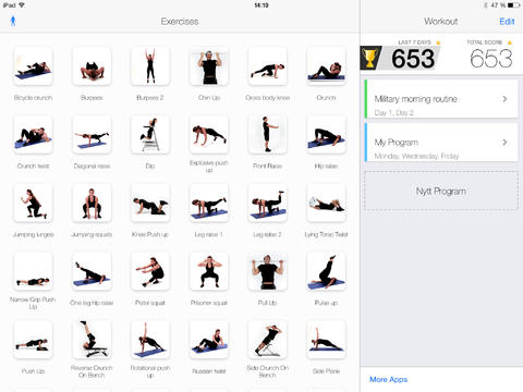 Virtual Trainer Bodyweight for iPadiPad App Finders