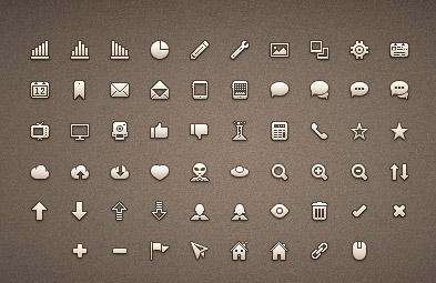 58 iconos para tus proyectos