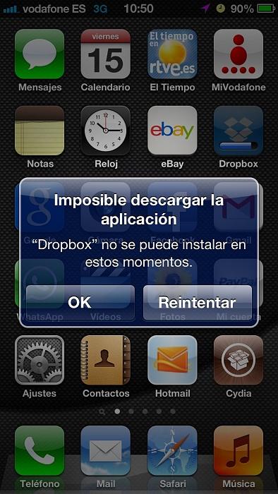 Cómo solucionar el error al instalar o actualizar aplicaciones en iOS