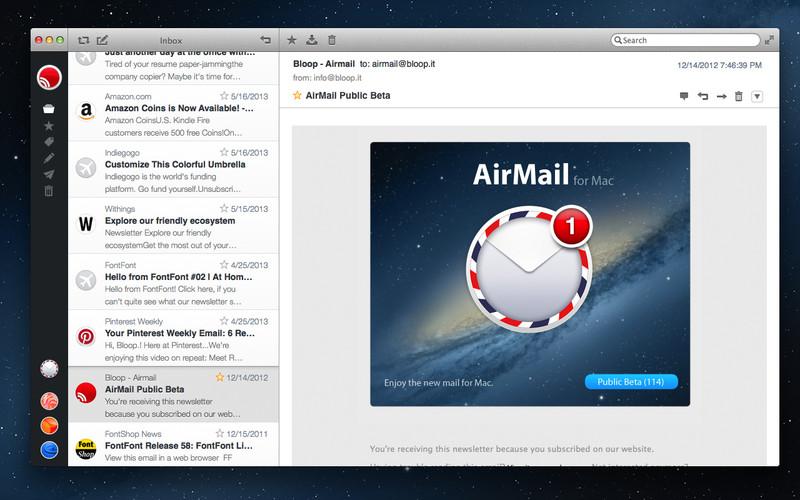 Airmail, un potente lector de correo para tu Mac.