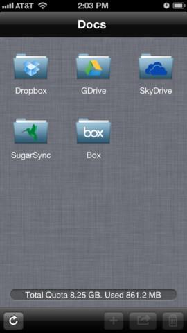 Gestiona tus cuentas de Dropbox, Drive, SkyDrive, SugarSync y Box, desde un único punto