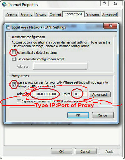 change IP address on windows