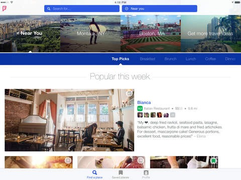 La larga espera ha terminado, Foursquare ya está disponible para iPad
