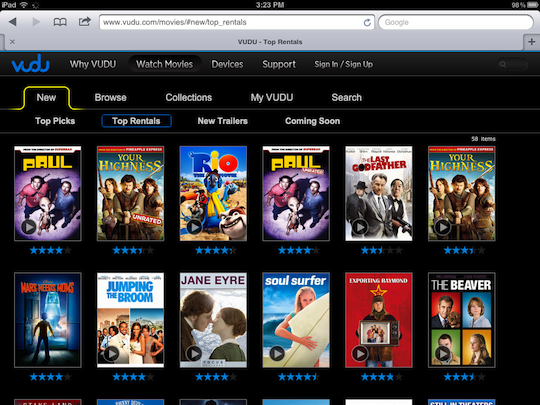 Wal-Mart's movie service now supports the iPad