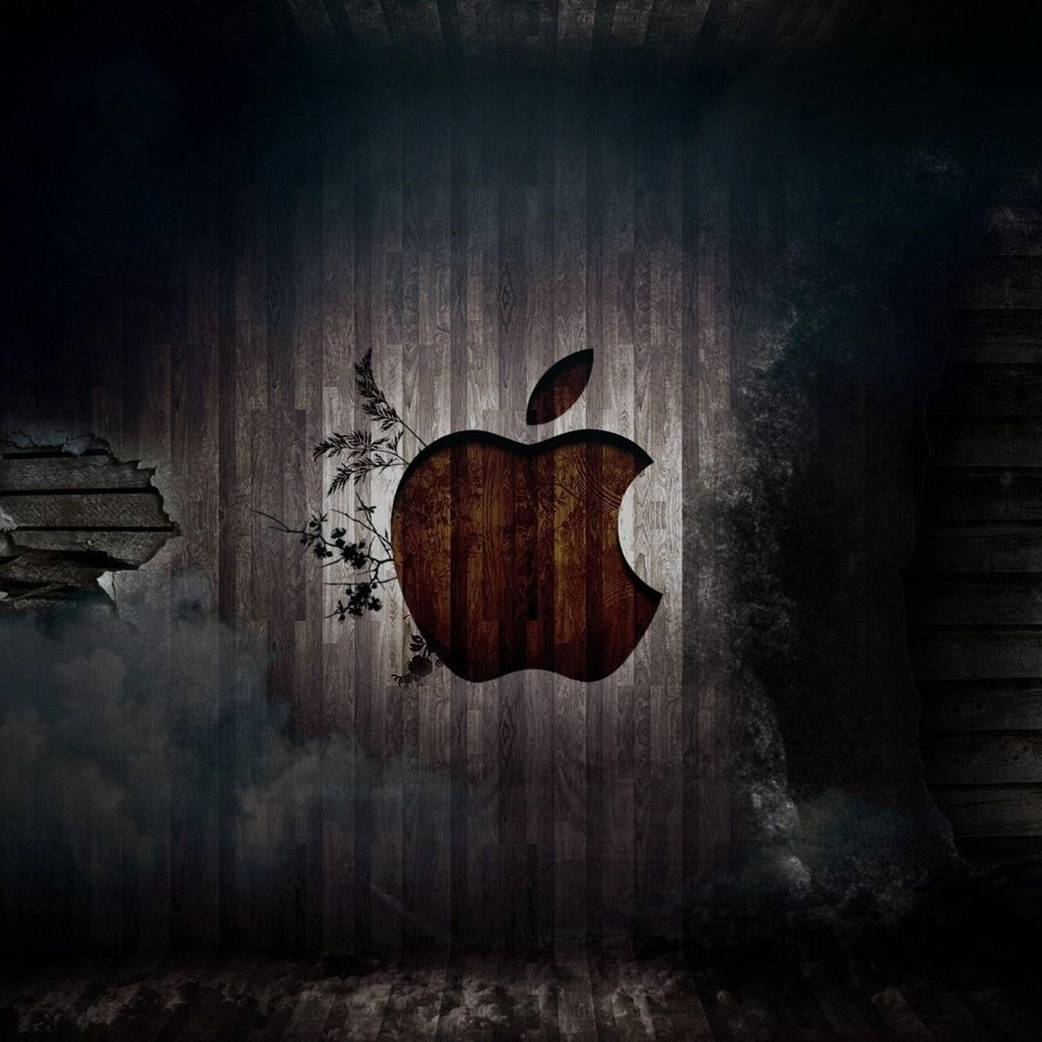 iPad Retina HD Wallpaper Apple in Wood  iPad iPad Air