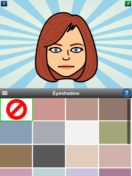 bitstrips avatar eyeshadow