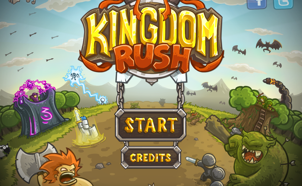 kingdom rush start screen