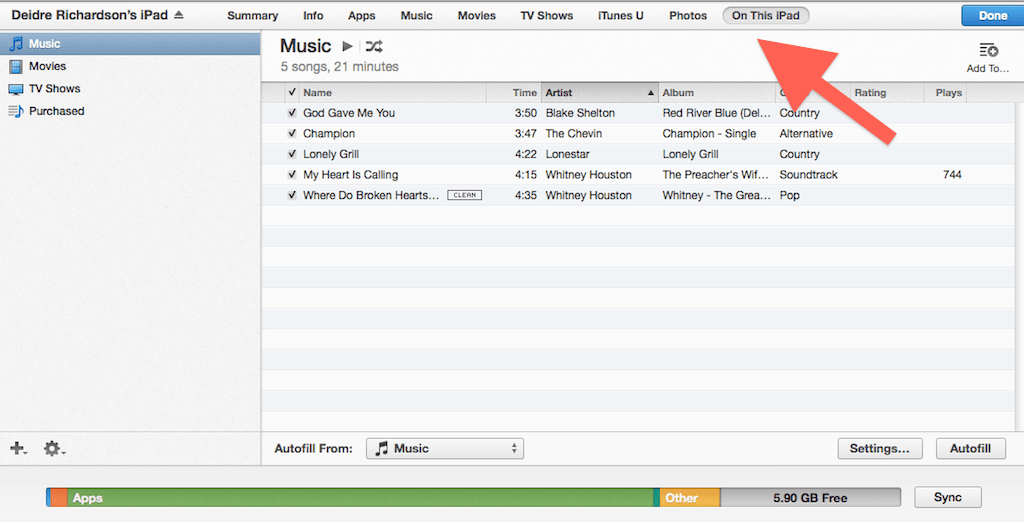 in iTunes, look for the unwanted music on your iPad