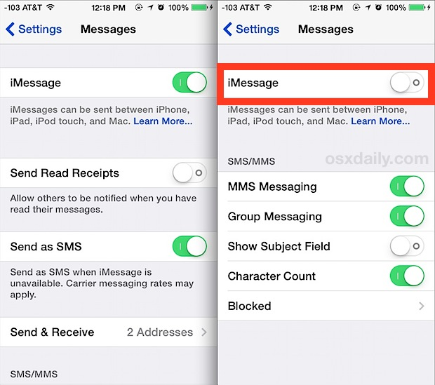 why is imessage showing waiting for activation