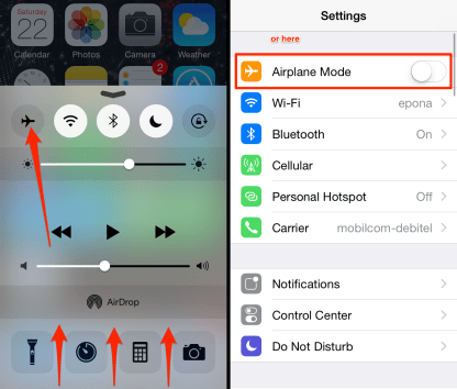 how-to-enable-airplane-mode-on-iphone