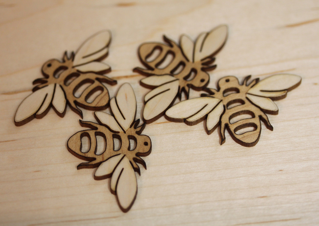 Lasercut bees  In A Flash Laser  iPad Laser Engraving