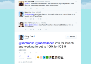 Eddy_CueさんはTwitterを使っています____karlfranks__robmsimoes_25k_for_launch_and_working_to_get_to_100k_for_iOS_9_