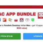 「Parallels Desktop for Mac」に10個のアプリやサブスクリプションをバンドルした「Macアプリのメガバンドル」(約63,000円お得)