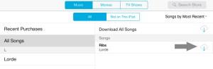 Delete Songs iOS 7