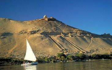 River Nile. Felucca, Egypt
