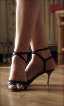 Tango dancing shoes