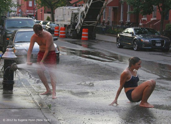 'Cooling Off on Milton Street' - Art Photography by Eugene Hyon, New York City, 2012