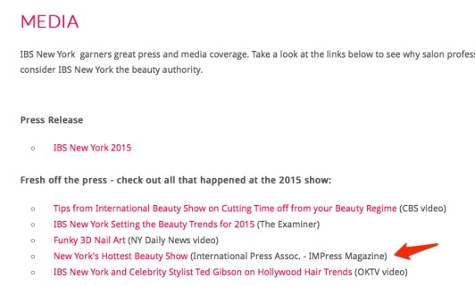 2015 IBS Show Media Section of their website