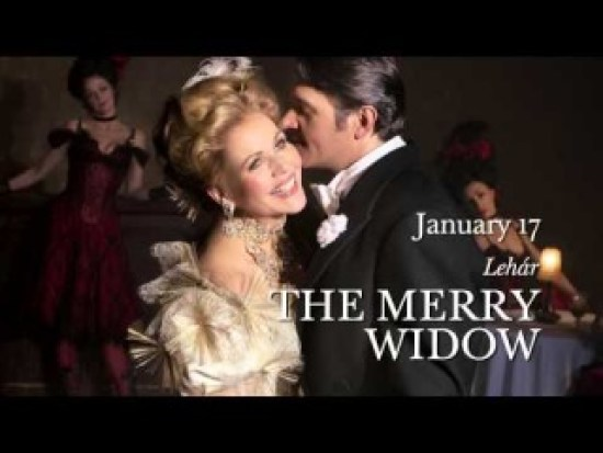 Renee Fleming and Nathan Gunn in MET Opera 2014-15 Production, Lehar's The Merry Widow
