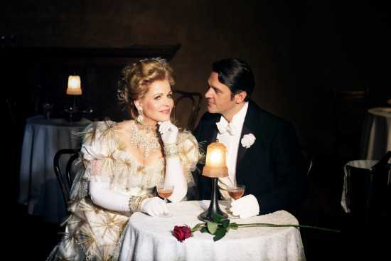 Renee Fleming (Hanna) and Nathan Gunn (Danilo), 2014-15 MET Opera production: The Merry Widow by Franz Lehar