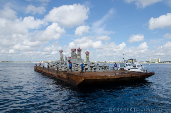 Rapa Nui Reef arrives safely to her GPS coordinates.