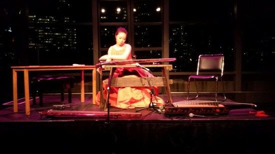 Jiaoyue Lyu performs solo selection during Lincoln Center Concert at the Kaplan Penthouse