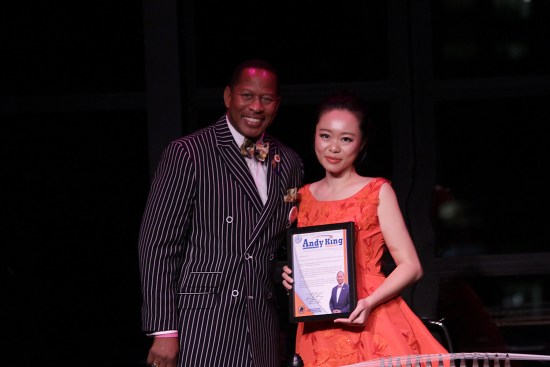 Jiaoyue Lyu receives Andy King Music Award at her recent Lincoln Center Concert