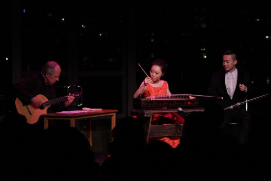 Jiaoyue, Stephen and Wang perform mesmerizing music selections in Stanley H. Kaplan Penthouse in New York