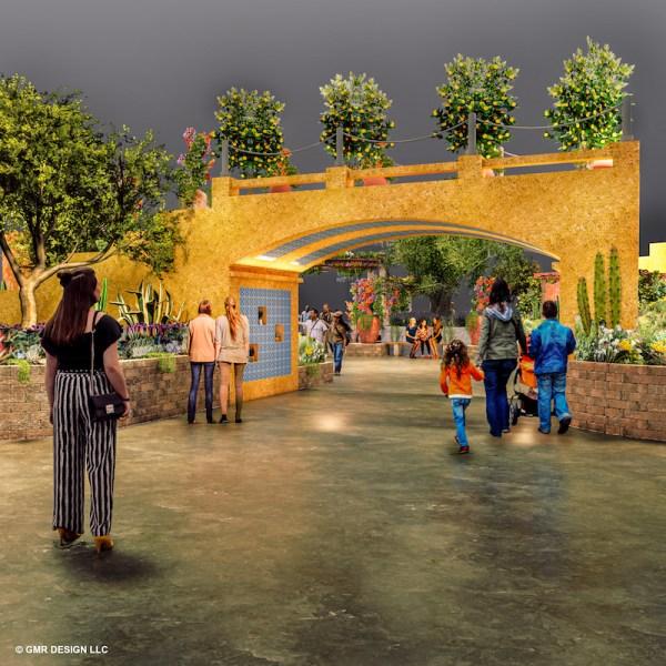 2020 Flower Show Entrance Garden Concept V4 Credit © GMR Design