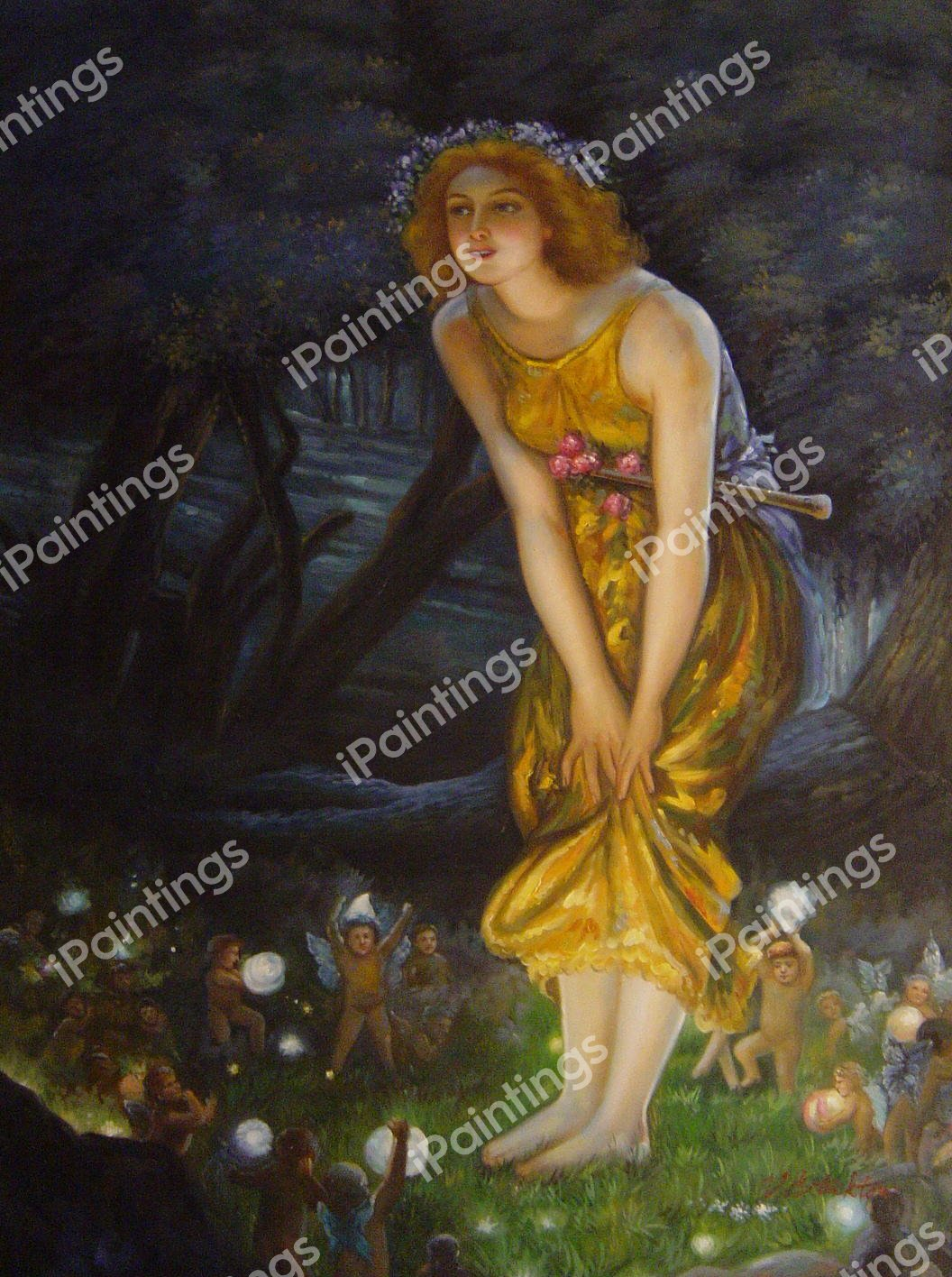 Midsummer Eve Painting by Edward Robert Hughes Reproduction | iPaintings.com