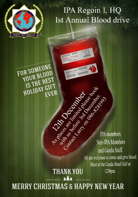 IPA 1st Annual Blood Drive Region 1
