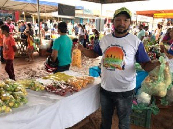 Feira da Produção Familiar em Pacajá — Foto: Denise Nascimento/IPAM