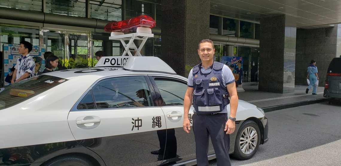 Vehículo patrulla 1 - Campeonato OGKK - Visita Policía Okinawa.