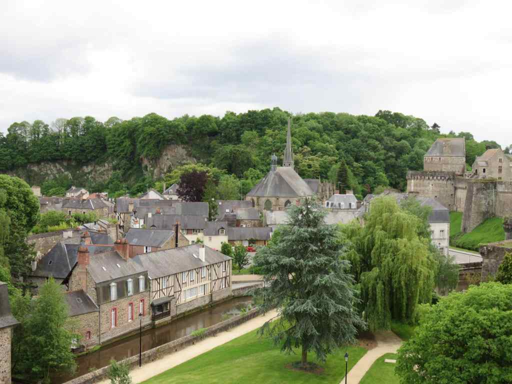 medieval city, view from castle, Fougeres, Brittany, France