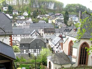 The medieval town of Blankenheim, Germany, hidden gem, half-timbered houses