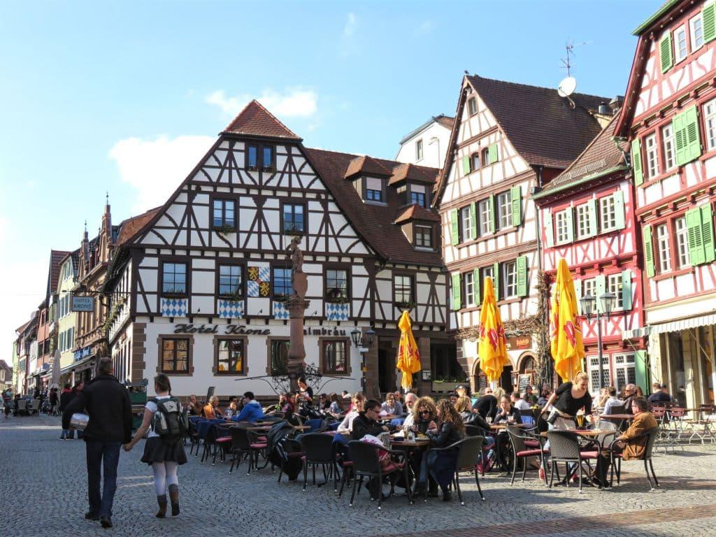 Cafés on the square, Bretten