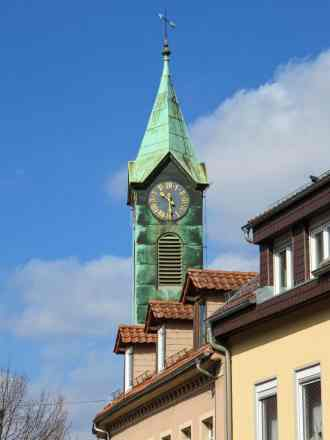 Clock Tower in Bretten, Germany