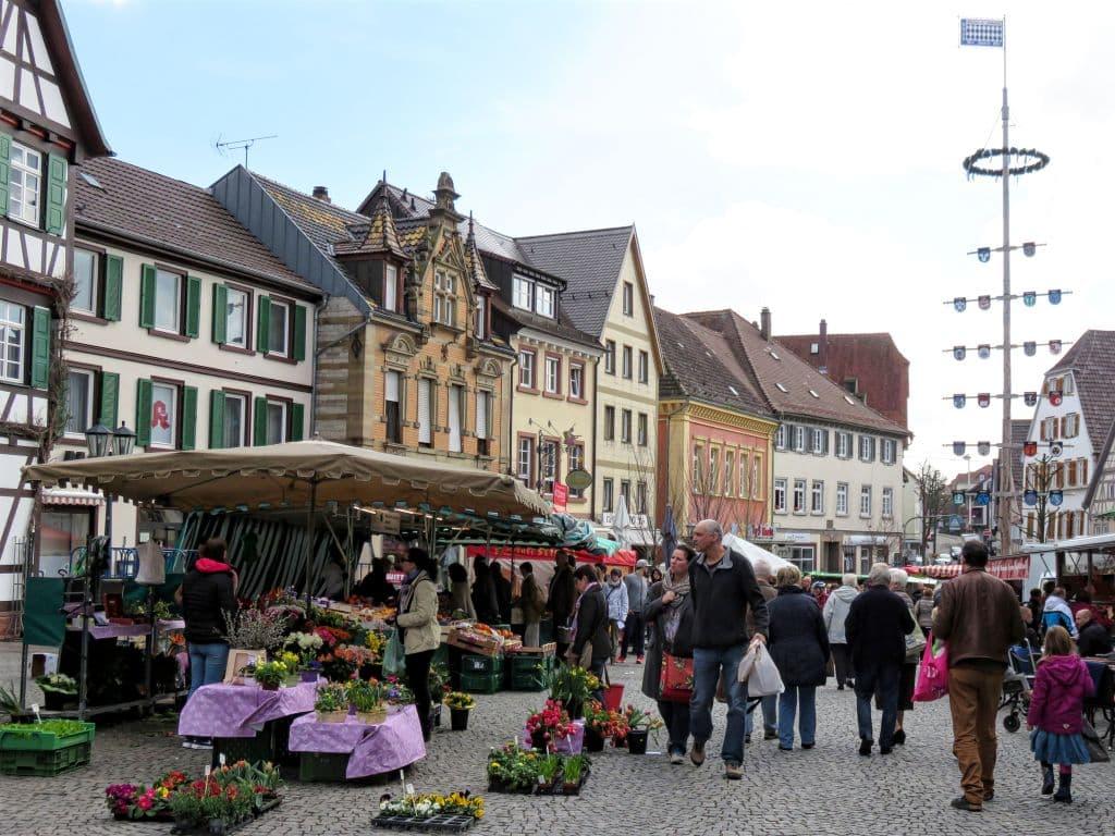 Saturday Market in Bretten, Germany
